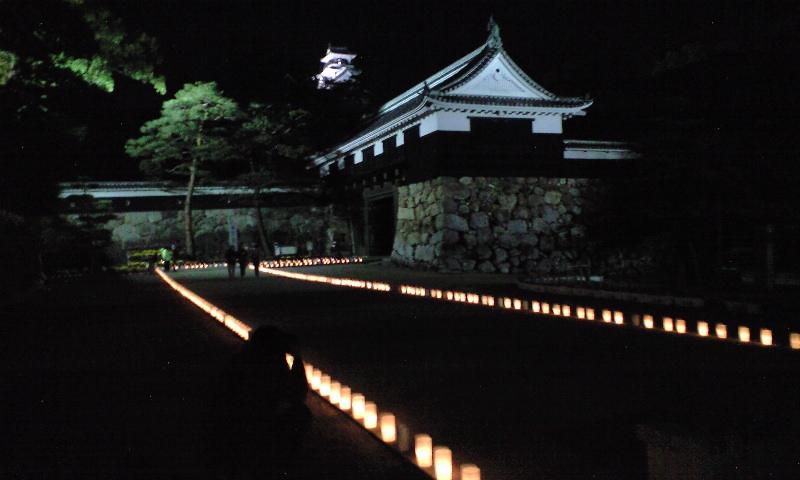 キャンドルな高知城
